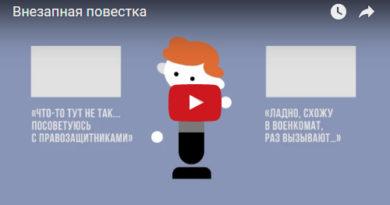 Правозащитники подготовили видео-игру «Внезапная повестка» (видео)